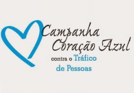 Ilustração símbolo da campanha Coração Azul