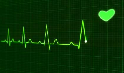 Ilustração de exame cardiológico