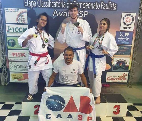 Equipe da Subseção de Jaú destaca-se no Campeonato Paulista de Karatê