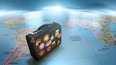 Ilustração sobre pacotes de viagem