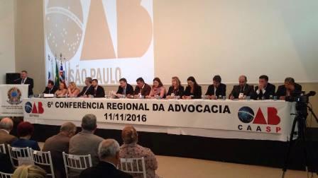 Mesa diretora da Conferência de Mauá