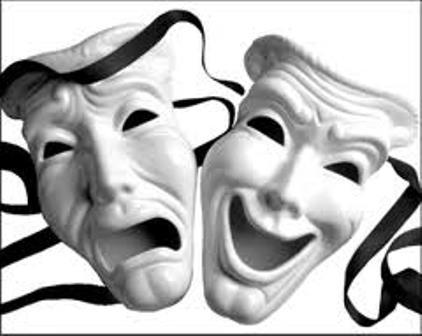 Imagem de máscaras ilustrativas das artes dramáticas