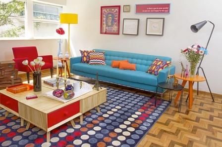 Sala decorada com móveis Oppa